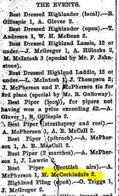 McCORKINDALE Malcolm Warwick Daily News 1919