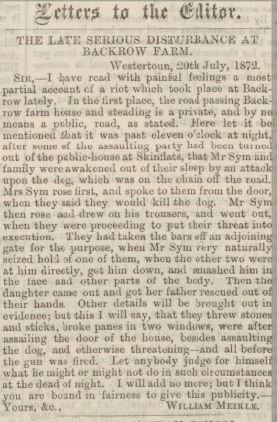 SIM William Falkirk Herald 27 July 1872 p3