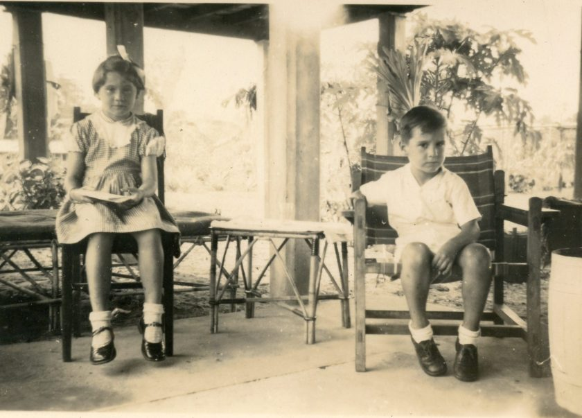 37 Lee and Peter 3rd house Popodetta 1955