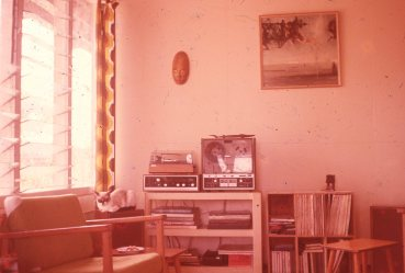 Brandi in lounge room in Moresby c1978