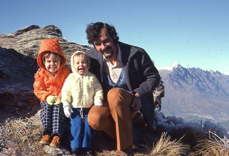 High on a mountain Louisa Rach and Peter NZ 1975