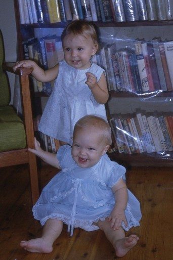 Louisa and Leah McNeice on Louisas 1st bday 1972 Nth Goroka