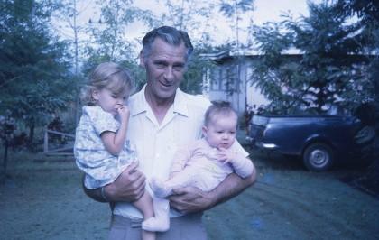 Louisa and Rach with Les Goroka 1973
