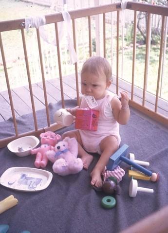 Louisa Xmas at Kelvin Grove 1972