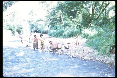 Milne Bay women washing