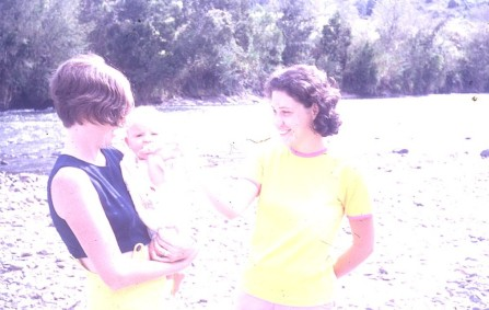 Pauleen and Louisa and Lee at gumi races Goroka 1971
