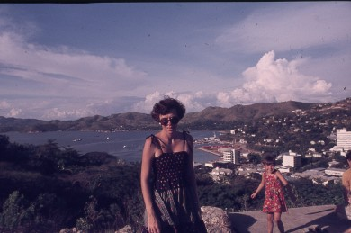 Pauleen and Rach at Paga Hill POM 1977