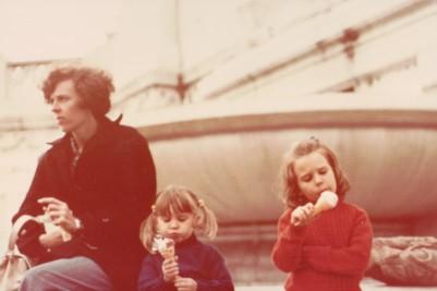 Pauleen Rach Louisa eat gelati 1st day Rome 1977