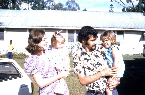 Pauleen Rach Peter and Louisa church Nth Goroka 1974