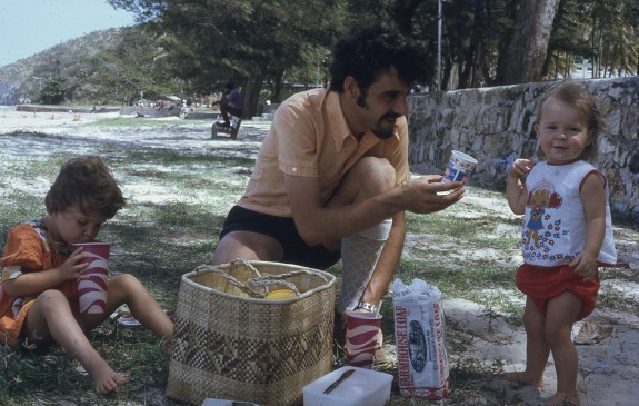 peter Louisa Rach picnic Ela Beach 1974