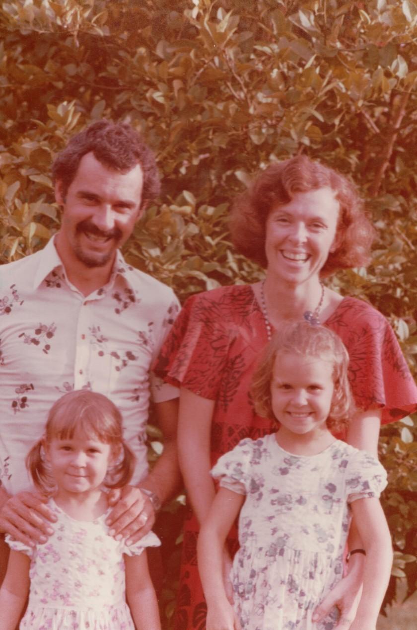 Peter Pauleen and girls c1978