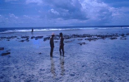 Peter Philip Les and Louisa at Wewak Beach 1973