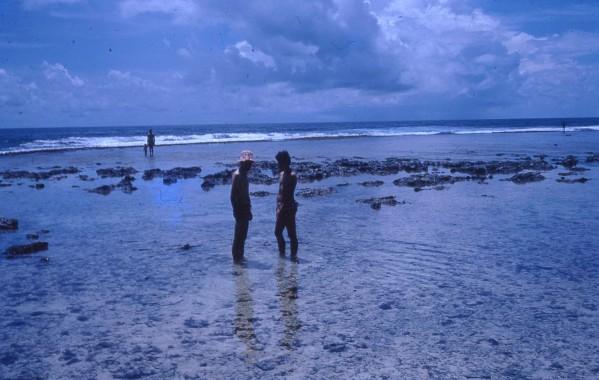Peter Philip Les and Louisa at Wewak Beach 1973