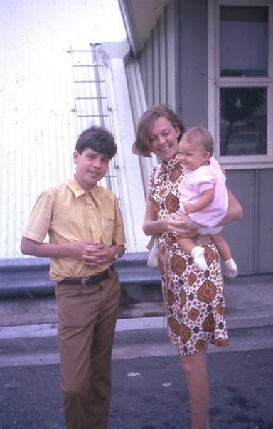 Philip Pauleen and Louisa Brisbane airport Nov 1971