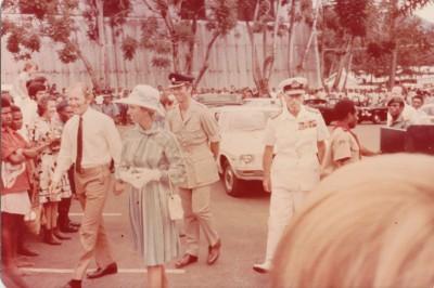 Queens Visit GKA Anne Hubby and Mountbatten