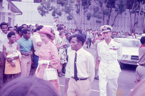 Queens visit Goroka 1974