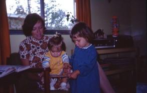 Xmas 1973 Rach was a sick bunny