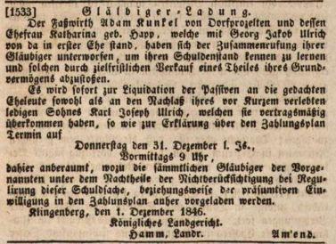 Aschaffenburger Zeitung, 22.12.1846 p4