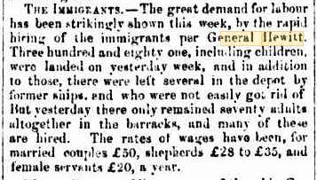 General Hewitt Dec 1854 MBC 30 Dec 1854