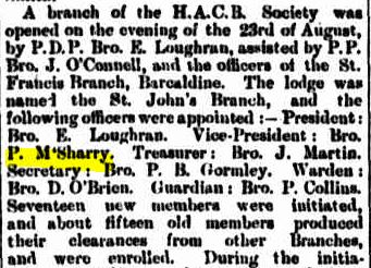 McSherry HACBS 1892 Longreach