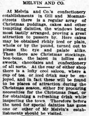 MELVIN Xmas NQ Register 29 Dec 1902