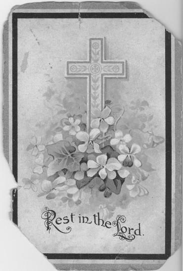 Memorial card GMK1 front