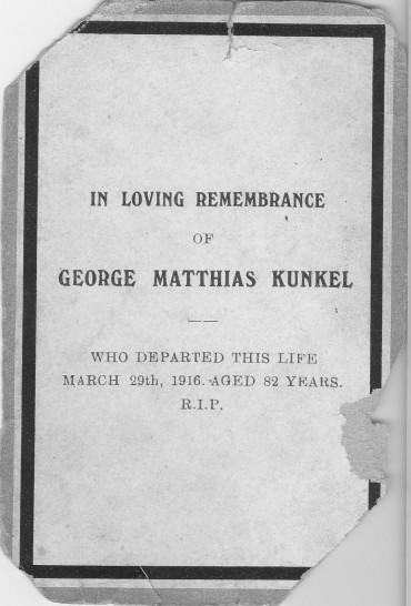 Memorial card GMK1