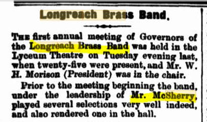 P McSherry Longreach brass band