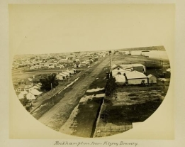 View of Rockhampton from the Fitzroy Brewery 1887