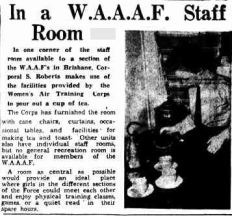 WAAAF Staff room