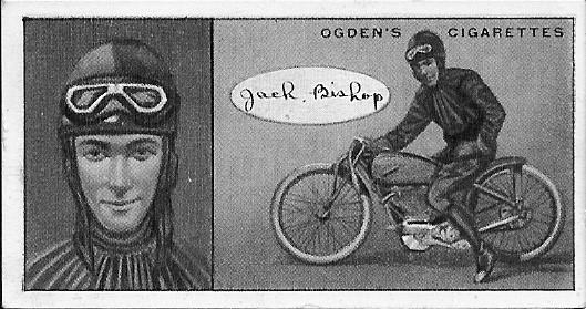 BISHOP Jack dirt track card