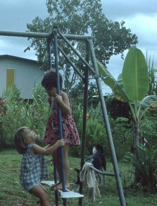 Cass girls on our swing Gerehu 1976