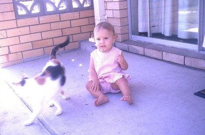 Louisa and Opal Nan and Olives cat Mermaid Beach 1972
