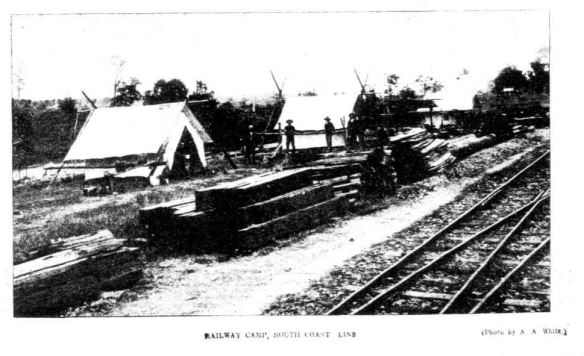 railway CAMP south coast line The week 1909