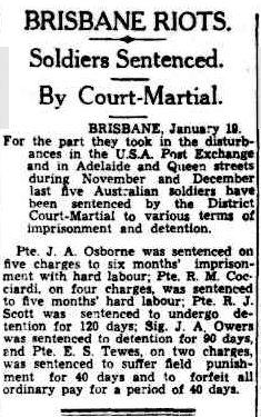 Cairns Post Jan 1942