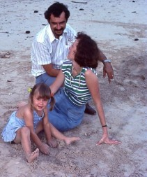 Cass Family at ela Beach 1977
