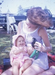 Pauleen and Louisa at Greenmount 14 Dec 1971