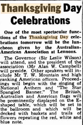 Telegraph 25 Nov 1942 p5 Thanksgiving